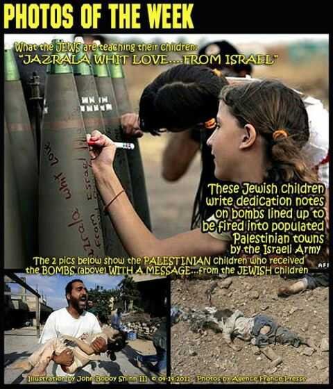 Jew children signing bombs