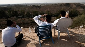 Jews Watching Gaza Bombing2
