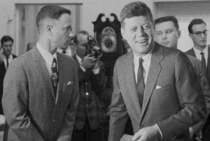 Forrest Gump and John F. Kennedy