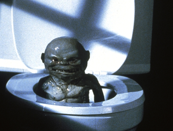 Ghoulie coming out of the toilet