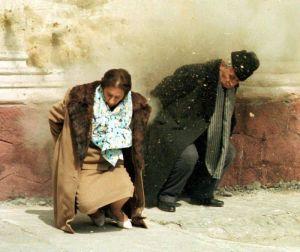 Nicolaie and Elena Ceaucescu execution
