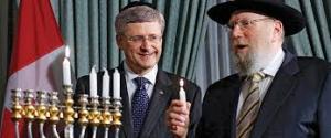 Stephen Harper israel skull cap