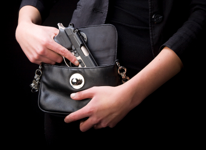 Woman Carrying Handgun