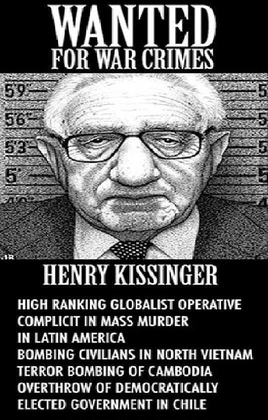 Henry Kissinger wanted for war crimes