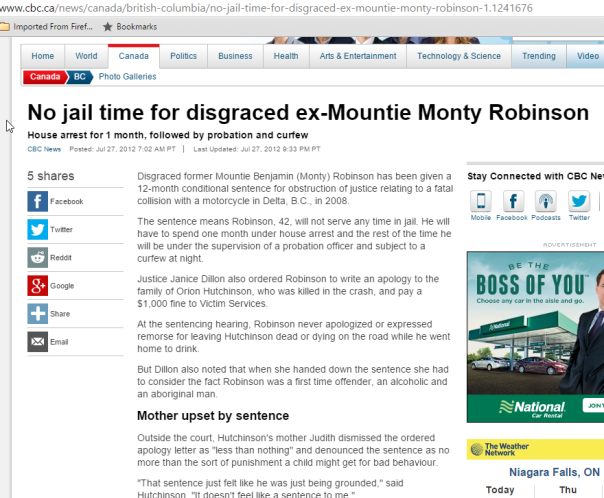 2016-03-09 03_27_18-No jail time for disgraced ex-Mountie Monty Robinson - British Columbia - CBC Ne