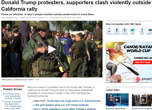 2016-05-07 12_33_44-Donald Trump protesters, supporters clash violently outside California rally - W