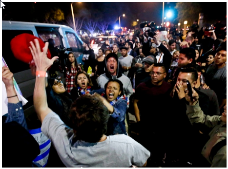 2016-05-07 12_49_46-Donald Trump protesters, supporters clash violently outside California rally - W