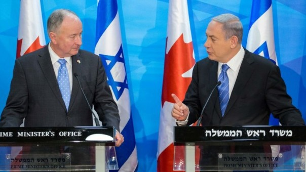 Niagara Falls MP Robert Nicholson and Netanyahu