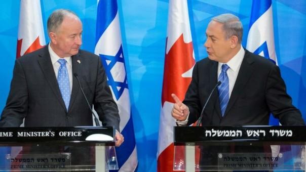 Niagara Falls MP Robert Nicholson and Netanyahu