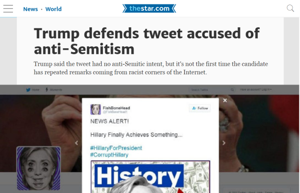 2016-07-05 03_38_25-Trump defends tweet accused of anti-Semitism _ Toronto Star