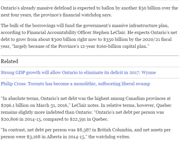 2016-07-20 03_27_22-Ontario's debt will grow to $350 billion in four years, financial watchdog warns
