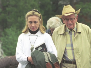Hillary Clinton Laurence Rockefeller