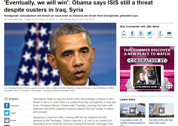 2016-08-05 09_40_39-'Eventually, we will win'_ Obama says ISIS still a threat despite ousters in Ira