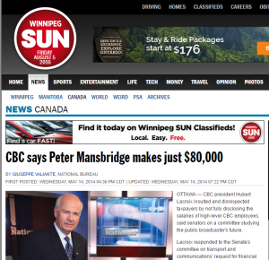 2016-08-05 11_09_53-CBC says Peter Mansbridge makes just $80,000 _ Canada _ News _ Winnipeg Sun