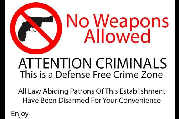 DefenseFreeZone Gun Free Zone
