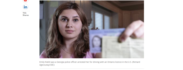 2018-05-09 14_41_17-Ontario woman arrested, jailed in U.S. for driving with a Canadian licence _ CBC