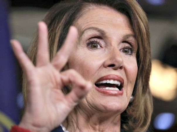 Nancy Pelosi OK sign
